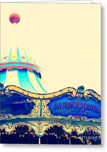 San Francisco Pier 39 Carousel Greeting Card by Kim Fearheiley