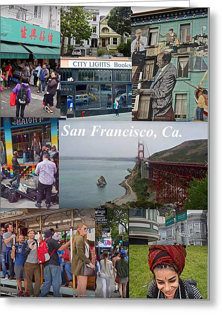 Greeting Card featuring the photograph San Francisco Poster by Joan Reese