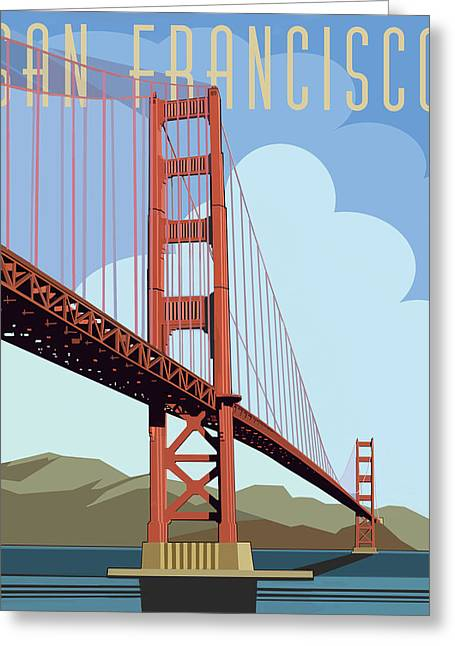 San Francisco Poster  Greeting Card