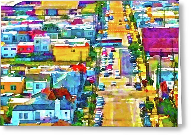 San Francisco Quintara View Greeting Card