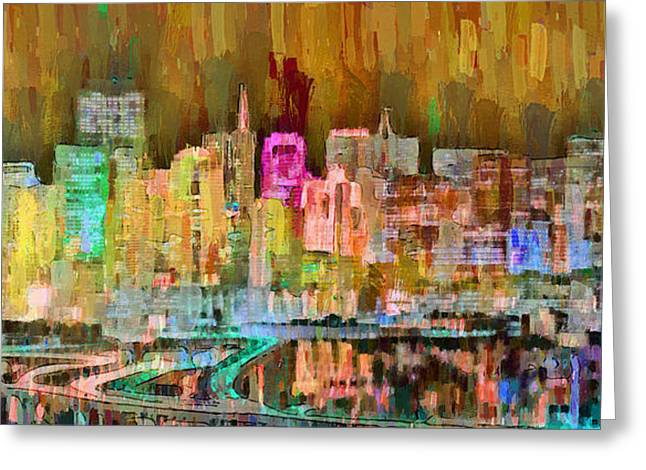 San Francisco Skyline 102 - Pa Greeting Card by Leonardo Digenio