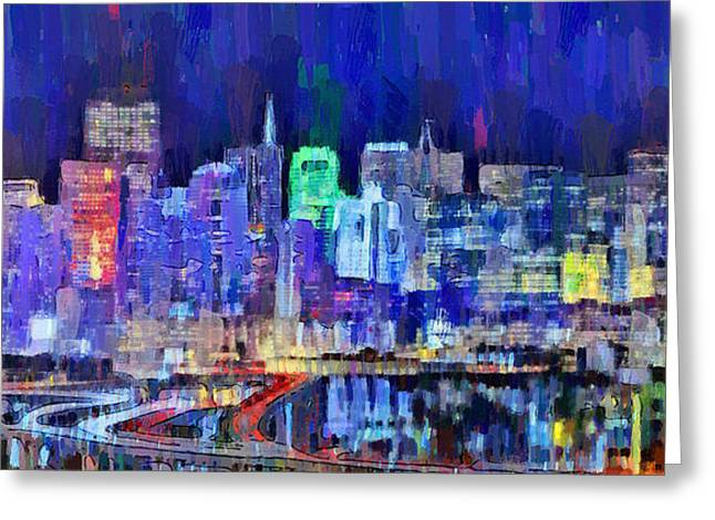 San Francisco Skyline 106 - Da Greeting Card by Leonardo Digenio