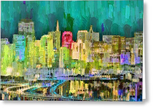 San Francisco Skyline 126 - Da Greeting Card
