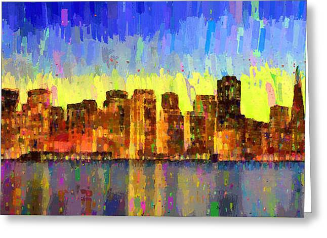 San Francisco Skyline 13 - Pa Greeting Card by Leonardo Digenio