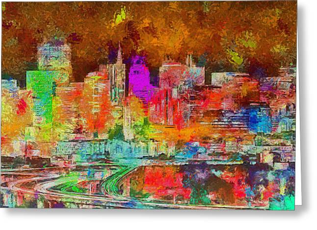 San Francisco Skyline 136 - Da Greeting Card by Leonardo Digenio