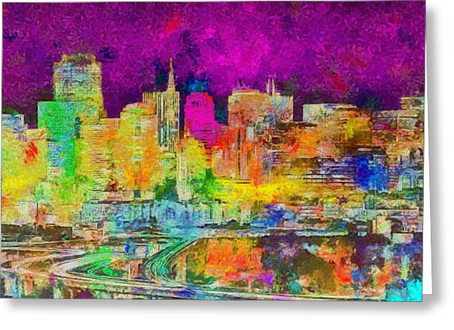 San Francisco Skyline 138 - Pa Greeting Card