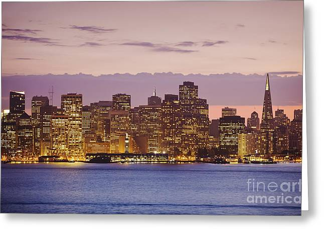 San Francisco Skyline Greeting Card by Bryan Mullennix