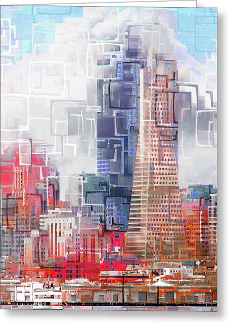San Francisco Skyline Eos 5d29399 V1 Long Greeting Card by Wingsdomain Art and Photography