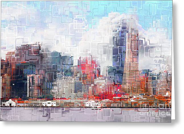 San Francisco Skyline Eos 5d29399 V1 Greeting Card by Wingsdomain Art and Photography