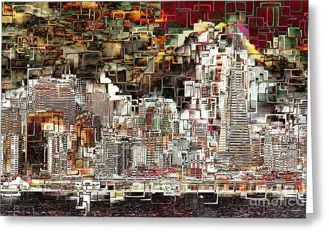 San Francisco Skyline Eos 5d29399 V2 Greeting Card by Wingsdomain Art and Photography
