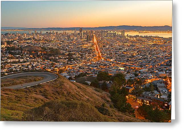 San Francisco Sunrise Greeting Card