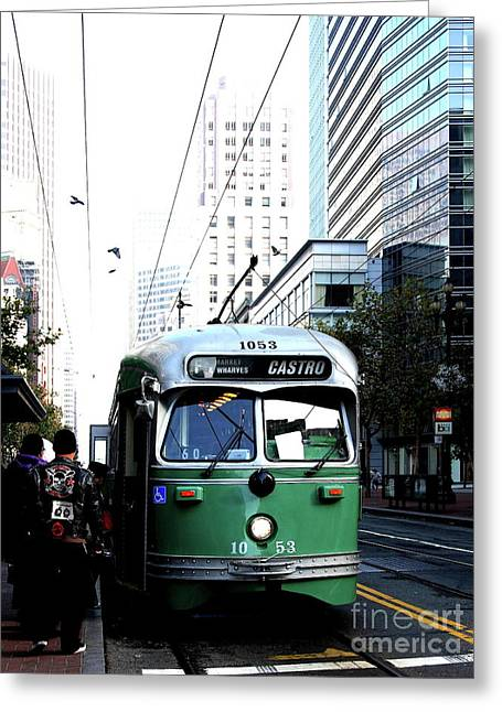 San Francisco Trolley Castro Line . 40d3023 Greeting Card by Wingsdomain Art and Photography