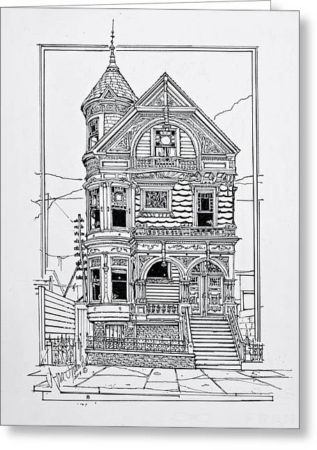 San Francisco Victorians  Greeting Card