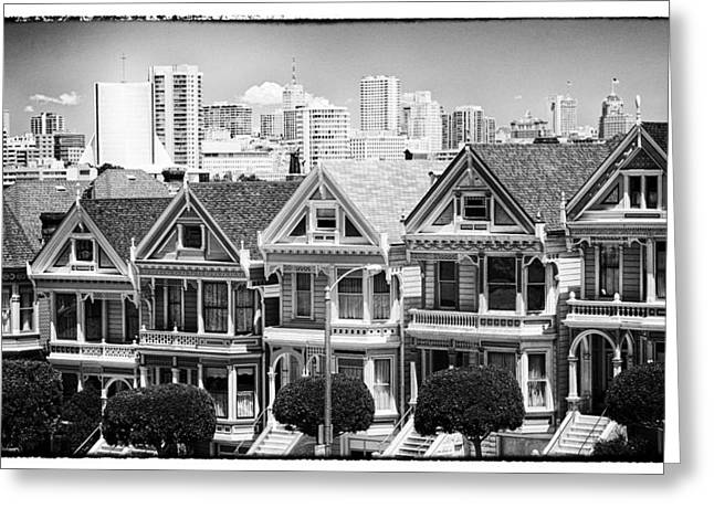 San Francisco View Lll - Black And White Greeting Card