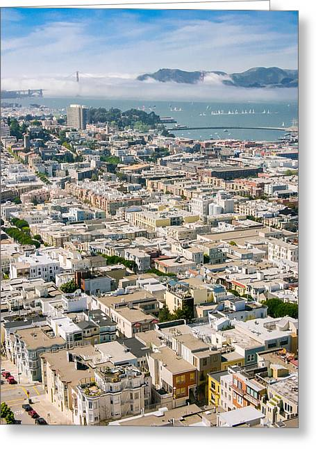 Greeting Card featuring the photograph San Francisco Vista by Mike Evangelist