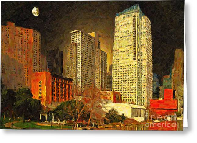 San Francisco Yerba Buena Garden Greeting Card by Wingsdomain Art and Photography