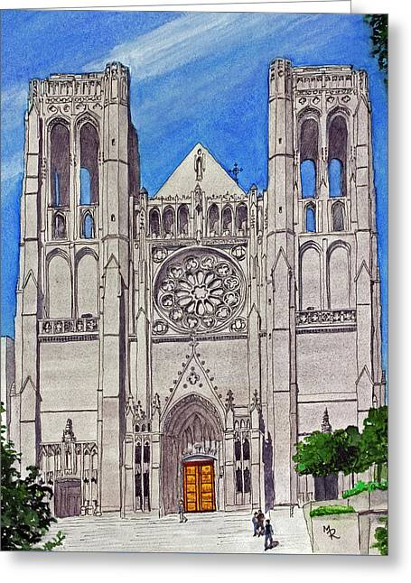 San Francisco's Grace Cathedral Greeting Card