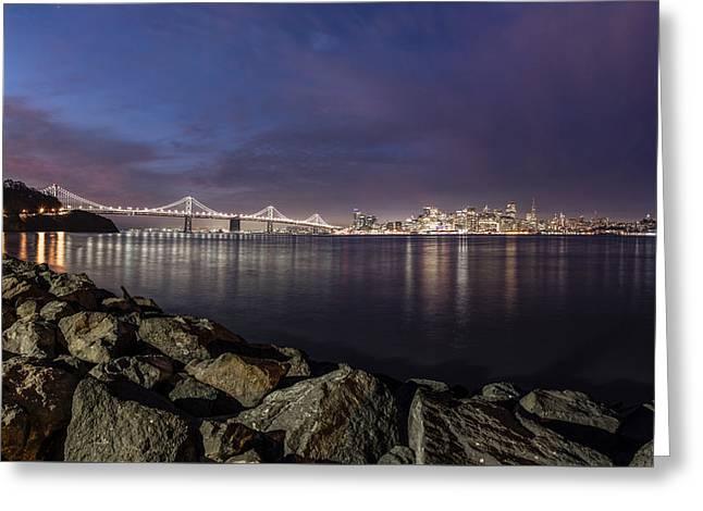 San Fransico Skyline From Treasure Island  Greeting Card