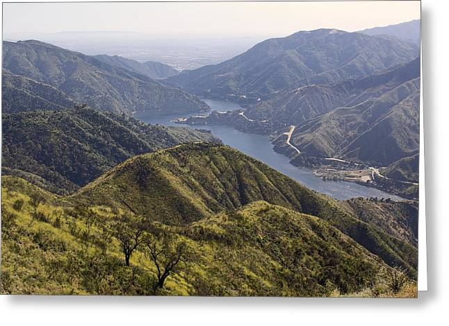 San Gabriel Canyon Reservoir Greeting Card