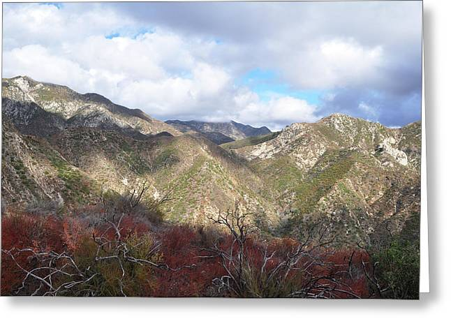 San Gabriel Mountains National Monument Greeting Card by Kyle Hanson