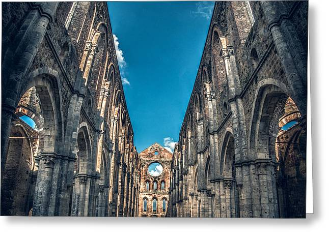 San Galgano Church Ruins In Siena - Tuscany - Italy Greeting Card by Luca Lorenzelli