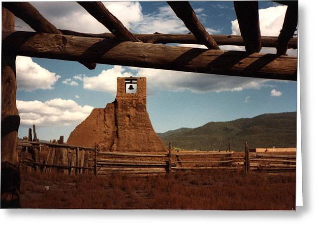 Greeting Card featuring the photograph San Geronimo Church Ruins by Kathleen Stephens