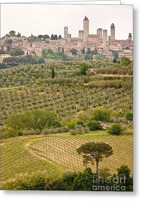 San Gimignano II Greeting Card