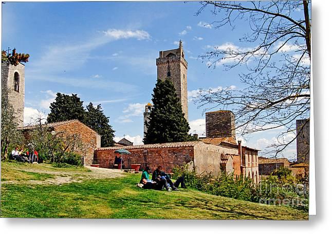 San Gimignano - Toscana - Italia - Rocca Di Montestaffoli Greeting Card by Carlos Alkmin