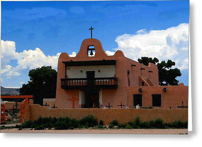 San Ildefonso Pueblo Greeting Card by David Lee Thompson