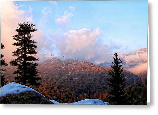 San Jacinto Mountains - California Greeting Card