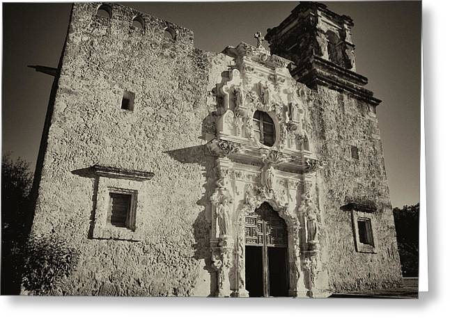 Greeting Card featuring the photograph San Jose Mission - San Antonio by Stephen Stookey