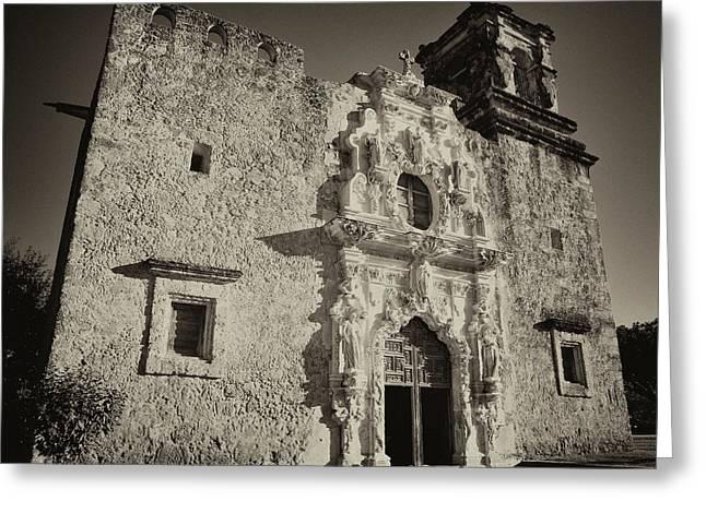 San Jose Mission - San Antonio Greeting Card by Stephen Stookey