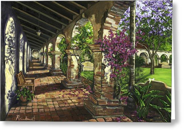 San Juan Capistrano Greeting Card by Lisa Reinhardt