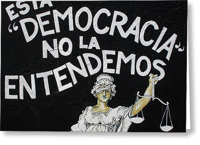 San Juan Democracia  Greeting Card