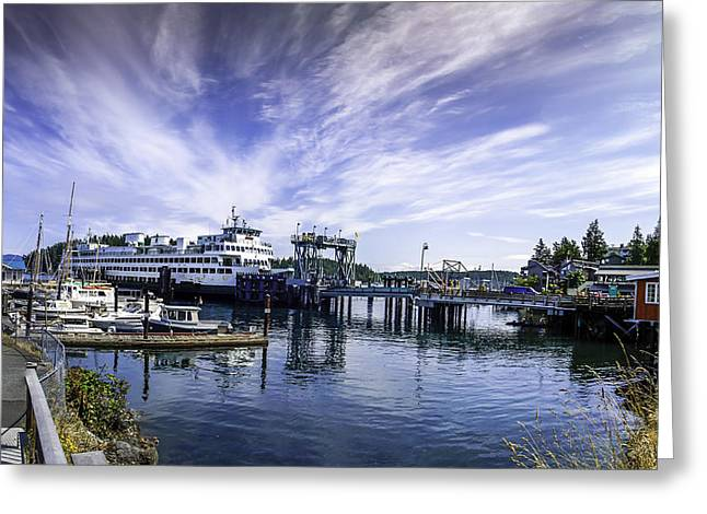 San Juan Island Ferry Greeting Card