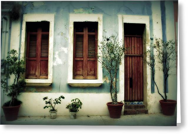 Screen Doors Greeting Cards - San Juan Living 3 Greeting Card by Perry Webster