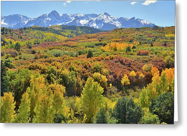 Greeting Card featuring the photograph San Juan Mountains From Dallas Divide by Ray Mathis