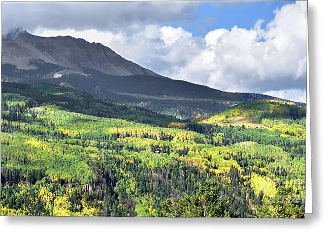 San Juan Mountains Greeting Card by Jim Chamberlain