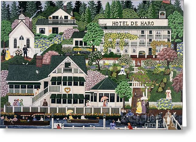 San Juan Roche Harbor Resort Greeting Card by Jennifer Lake