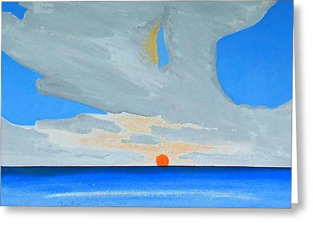Greeting Card featuring the painting San Juan Sunrise by Dick Sauer