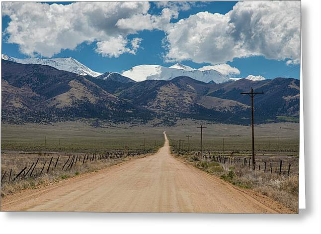 San Luis Valley Back Road Cruising Greeting Card by James BO Insogna