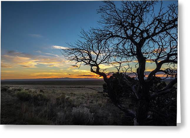 San Luis Valley Sunset - Colorado Greeting Card