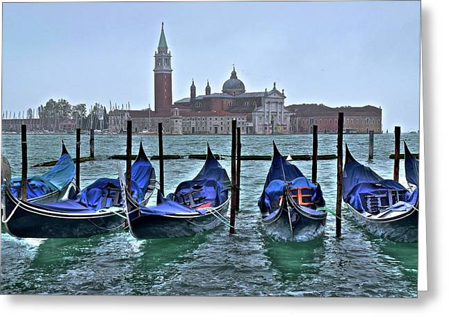 San Marco Hdr Greeting Card by Frozen in Time Fine Art Photography