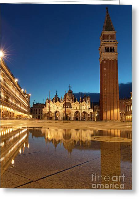 Greeting Card featuring the photograph San Marco Twilight by Brian Jannsen