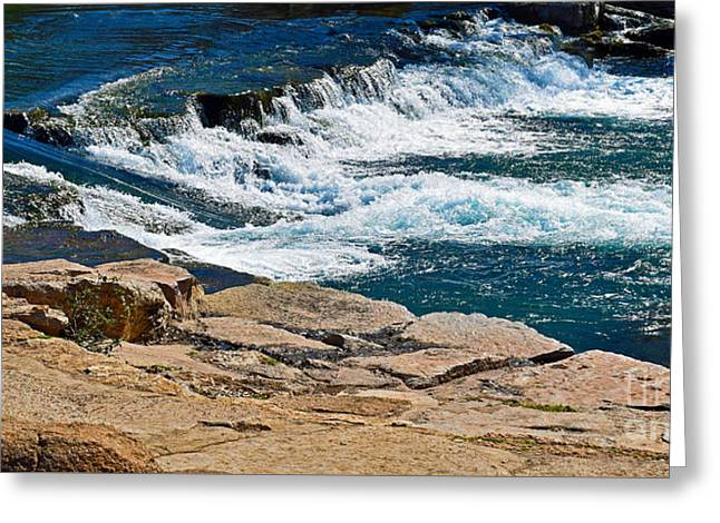 San Marcos River Waterfall  Greeting Card