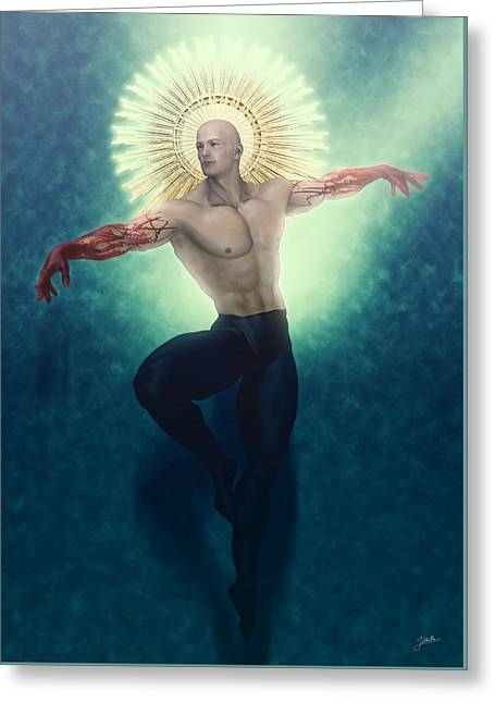 San Martin Greeting Card by Joaquin Abella
