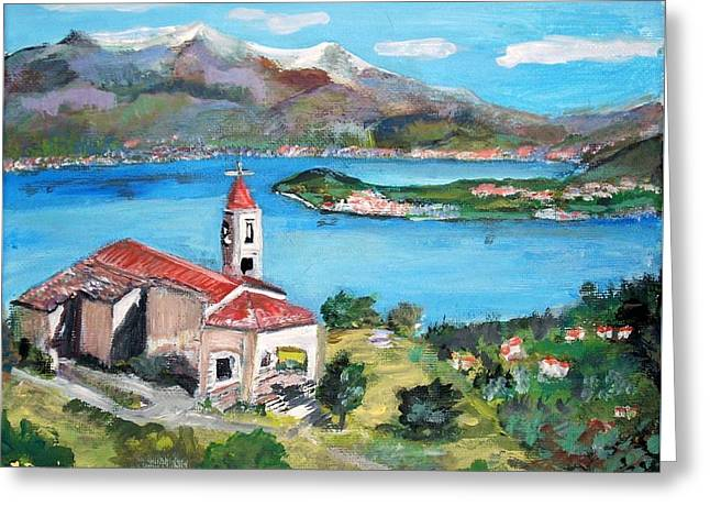 San Martino In Lake Como Greeting Card