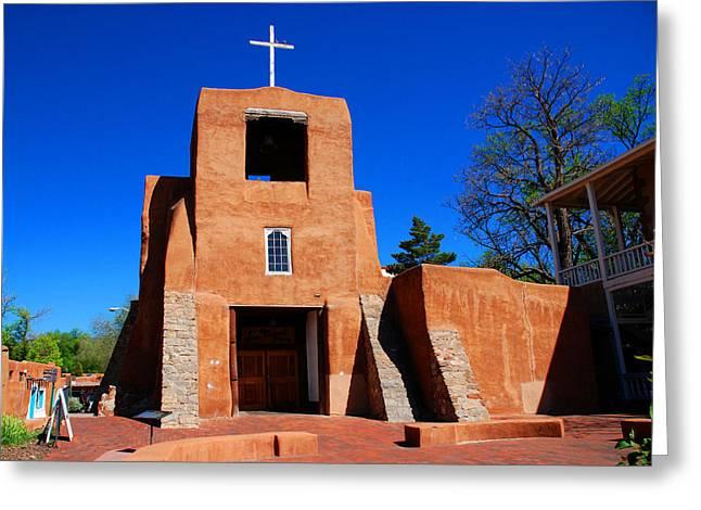 San Miguel Chapel In Santa Fe Greeting Card
