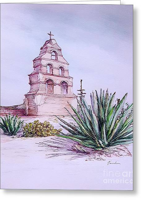 San Miguel Mission, Bell Tower Greeting Card