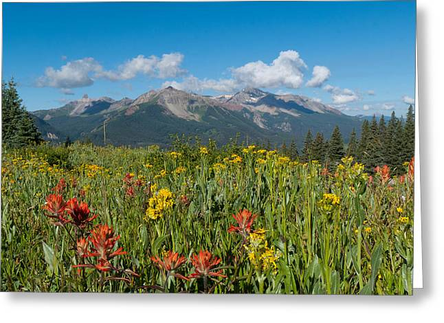 San Miguel Mountains Greeting Card by Cascade Colors
